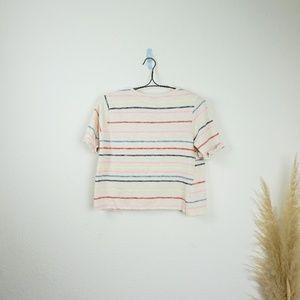 Anthropologie Tops - Anthropologie Postmark rainbow striped t-shirt